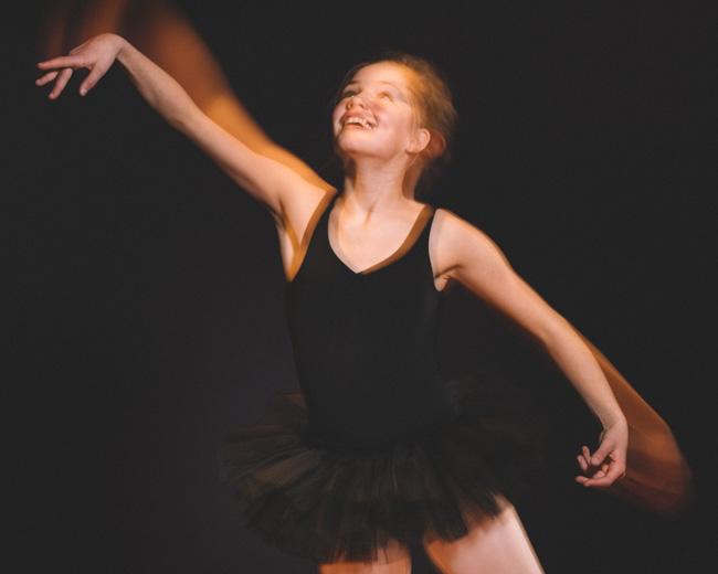 kinderen fotoshoot ballerina